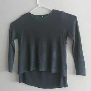 Milano Sz L Long sleeve Gray Blouse